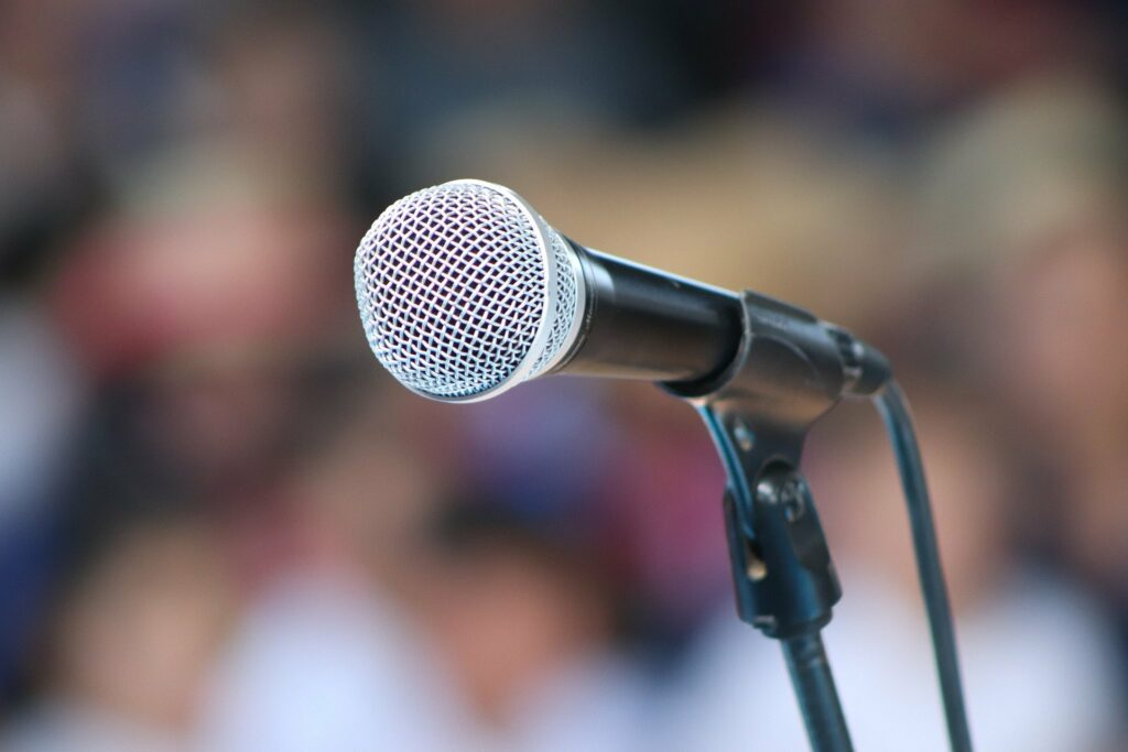 An open mic