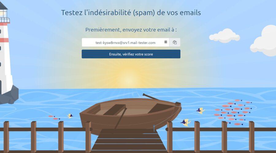 Page d'accueil de Mail-tester.com