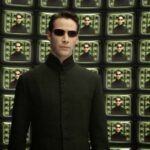 Neo in the architect room in Matrix Reloaded