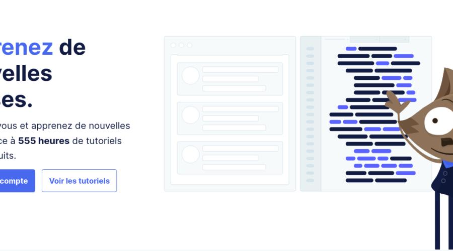 Page d'accueil du site Grafikart.fr