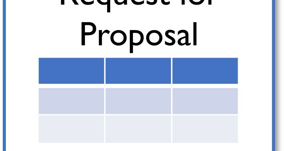 Request for proposal document cover