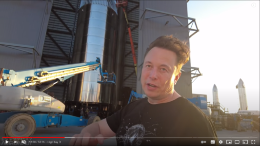 Elon Musk talking about rockets interviewed by Everyday Astronaut